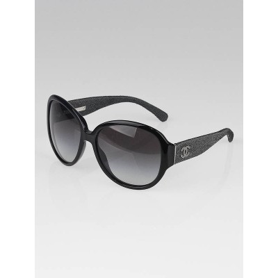Chanel Black Oversize Frame and Denim CC Sunglasses -501