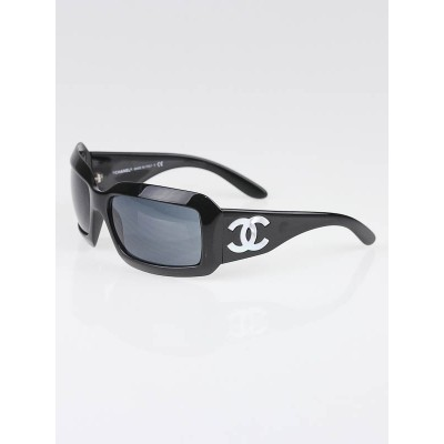 Chanel Black Frame Mother-of-Pearl Sunglasses - 5076