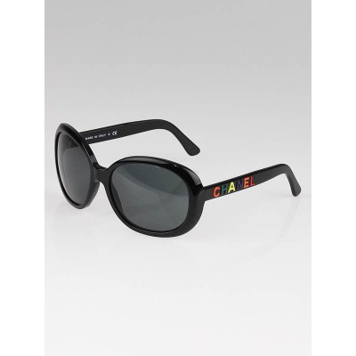 Chanel Black Frame Logo Sunglasses-5138