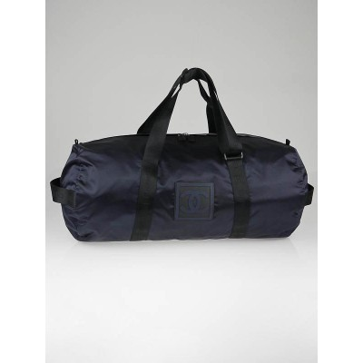 Chanel Navy Blue Nylon Sport Large Duffle Bag