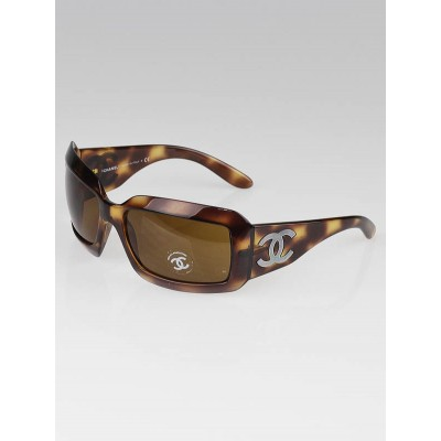 Chanel Brown Frame CC Mother-of-Pearl Sunglasses - 5076