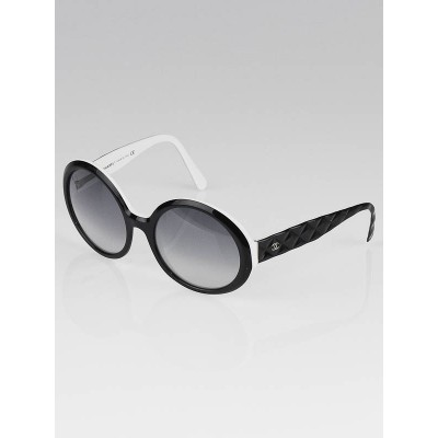 Chanel Black/White Frame Quilted CC Logo Sunglasses- 5120