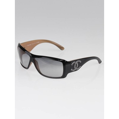 Chanel Black/Tan Frame Gradient Tint CC Sunglasses-6021-B