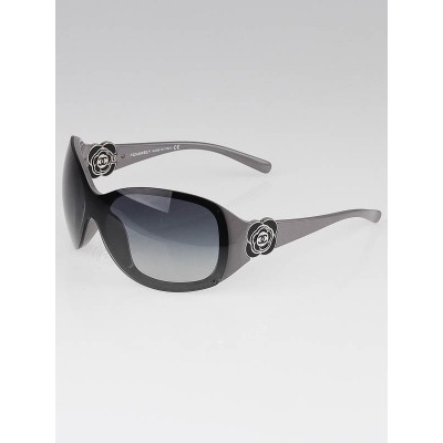 Chanel Grey/Black Camellia Flower Sunglasses-6032