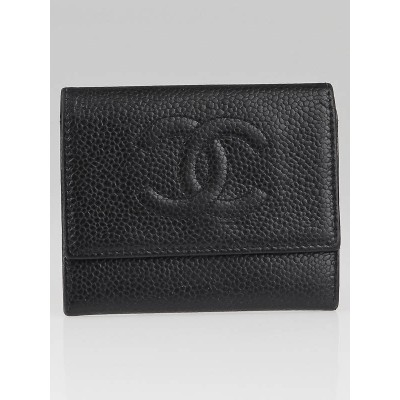 Chanel Black Caviar CC Card Holder and Coin Purse