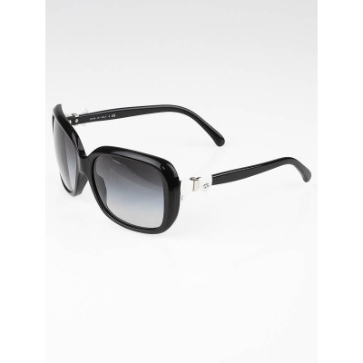 Chanel Black Frame Bow Sunglasses-5171