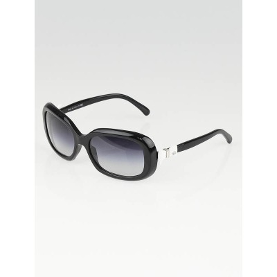 Chanel Black Frame Gradient Tint Bow Sunglasses-5170