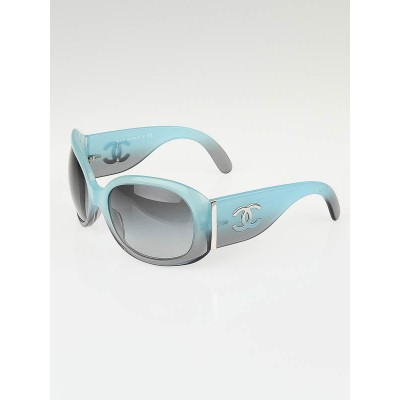 Chanel Blue Gradient Frame CC Logo Oversized Sunglasses-5167