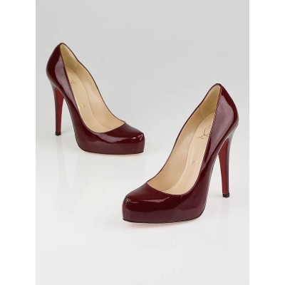 Christian Louboutin Red Patent Leather Rolando 120 Pumps Size 6.5/37