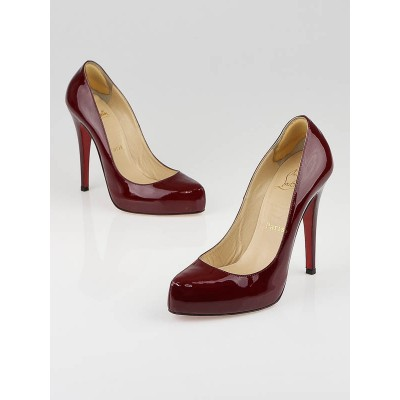 Christian Louboutin Red Patent Leather Rolando Pumps Size 7/37.5