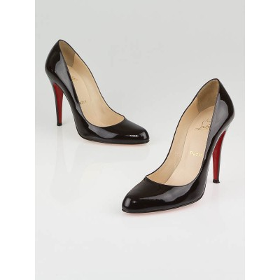 Christian Louboutin Chocolate Brown Patent Leather Decollete 868 Pumps Size 8.5/39