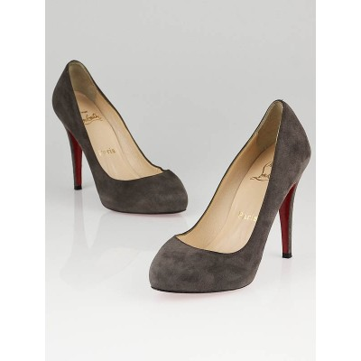 Christian Louboutin Grey Suede Pumps Size 5.5/36