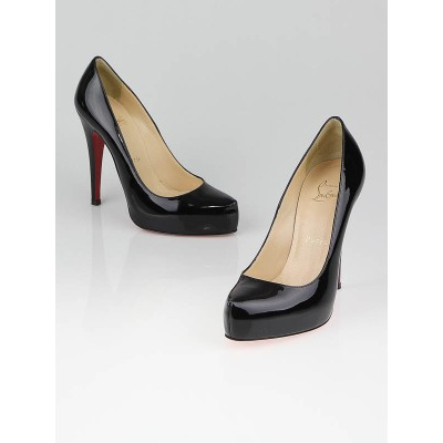Christian Louboutin Black Patent Leather Rolando 120 Pumps Size 5/35.5