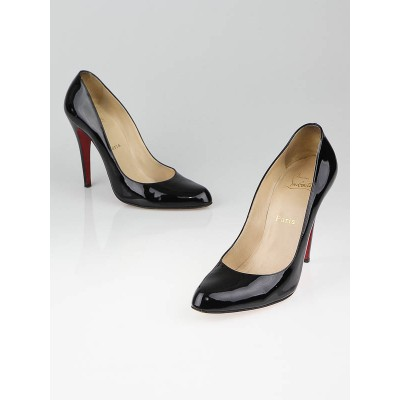 Christian Louboutin Black Patent Leather Decollete 868 100 Pumps Size 10/40.5