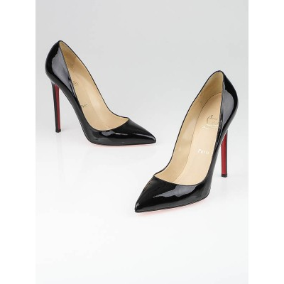 Christian Louboutin Black Patent Leather Pigalle 120 Pumps Size 9/39.5