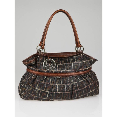 Fendi Metallic Zucca Fabric Large Chef Tote Bag