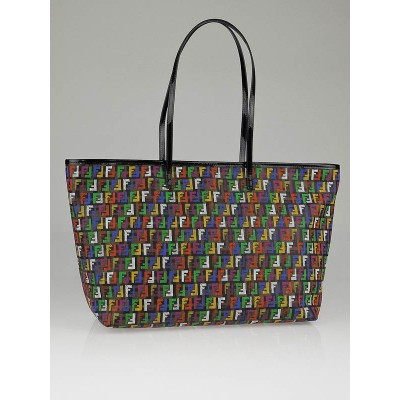 Fendi Multicolor Zucchino Coated Canvas Roll Tote Bag