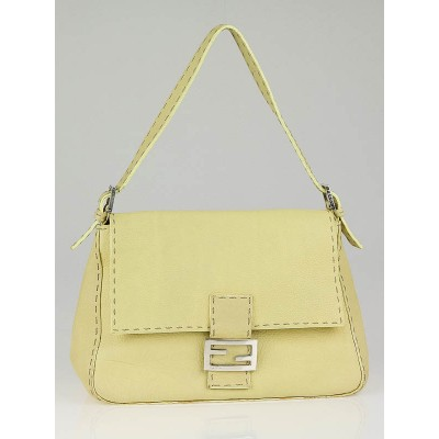 Fendi Yellow Selleria Leather Mama Forever Flap Bag