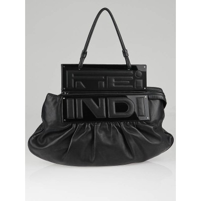 Fendi Black Nappa Leather Convertible To You Clutch Bag