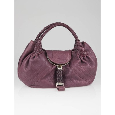 Fendi Purple Nappa Leather Spy Bag