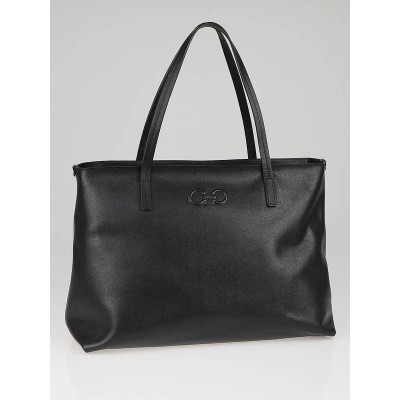Salvatore Ferragamo Black Calf Leather Amabel Tote Bag