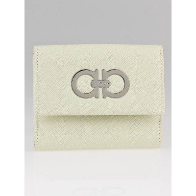 Salvatore Ferragamo Magnolia Pebbled Leather Compact Wallet