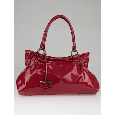 Salvatore Ferragamo Fresia Patent Leather Ava Shoulder Bag