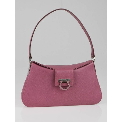 Salvatore Ferragamo Pink Saffiano Leather Shoulder Bag