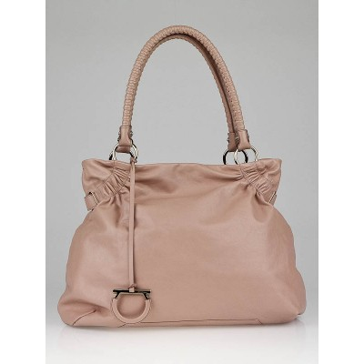Salvatore Ferragamo Rose Calfskin Leather Nilla Tote Bag