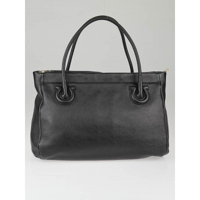 Salvatore Ferragamo Black Calf Leather Katrine Tote Bag