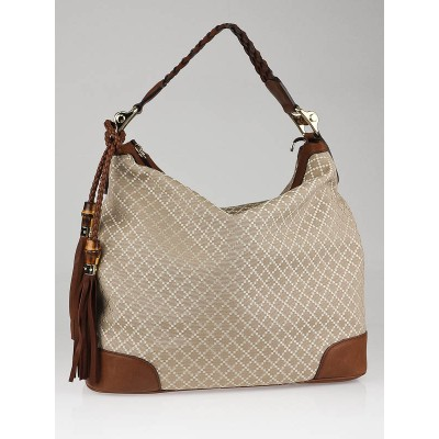 Gucci Sand/Beige Diamante Canvas Eva Large Hobo Bag