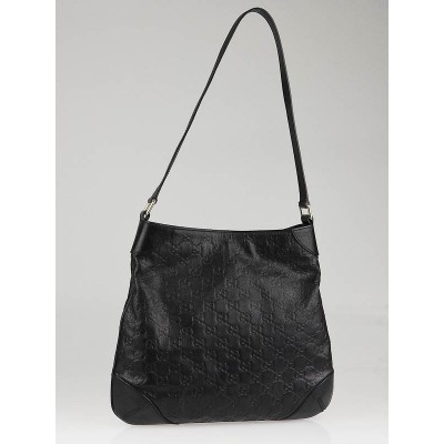 Gucci Black Guccissima Leather Shoulder Bag