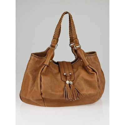 Gucci Tan Leather Marrakech Large Hobo Bag