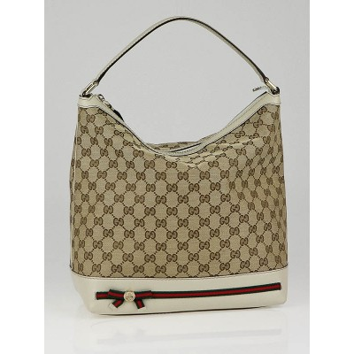 Gucci Beige GG Canvas Mayfair Medium Hobo Bag