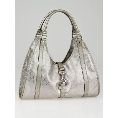 Gucci Silver GG Coated Canvas Joy Medium Shoulder Bag
