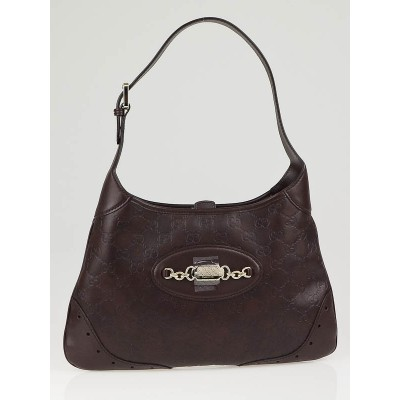 Gucci Brown Guccissima Leather Small Hobo Bag