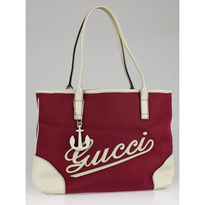 Gucci Red Nylon Boulevard Medium Tote Bag