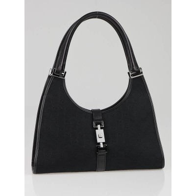 Gucci Black GG Canvas Small Shoulder Bag