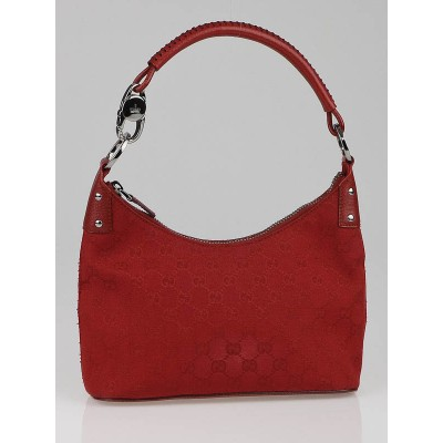 Gucci Red GG Canvas Small Shoulder Bag
