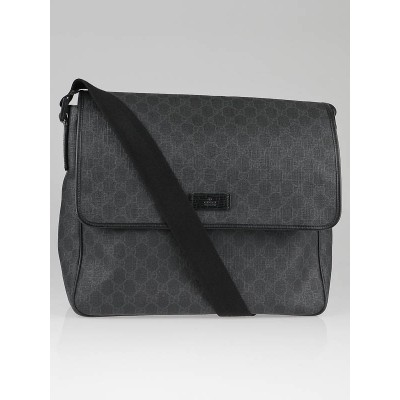 Gucci Black/Grey GG Coated Canvas Messenger Bag