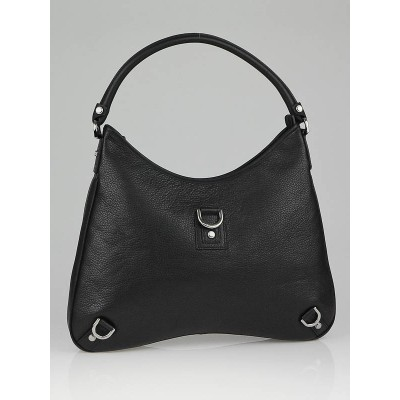 Gucci Black GG Leather Large Abbey D Ring Hobo Bag
