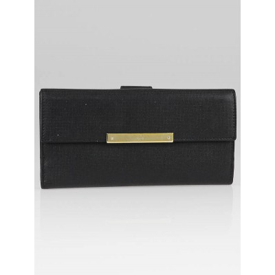 Gucci Black Leather Long Continental Wallet