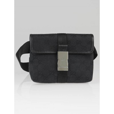 Gucci Black GG Canvas Small Waist Belt Bag