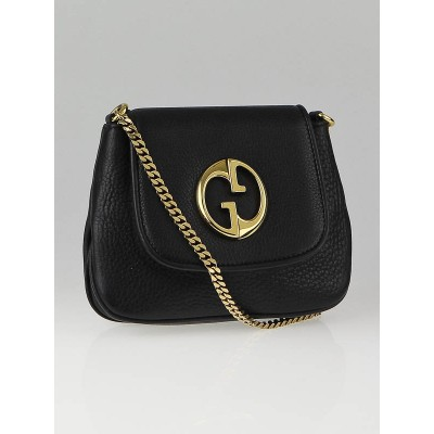 Gucci Black Leather 1973 Small Shoulder Bag