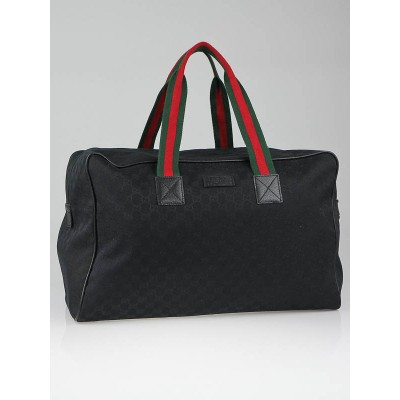 Gucci Black GG Canvas Large Collapsible Carry-On Duffel Bag