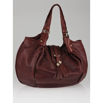 Gucci Red Leather Marrakech Large Hobo Bag