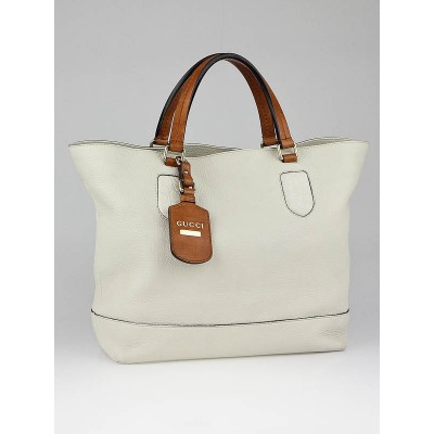 Gucci White Leather Madison Tote Bag