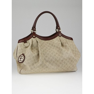 Gucci Beige GG Canvas Large Sukey Tote Bag
