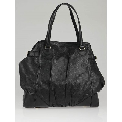 Gucci Black Guccissima Leather Full Moon Grand Tote Bag