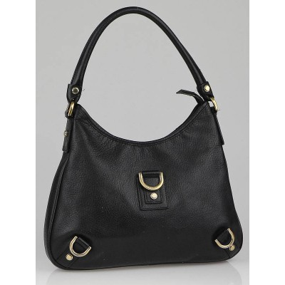 Gucci Black Leather Medium Abbey D-Ring Hobo Bag